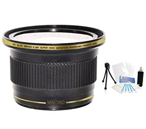 52mm Xit 0.38x Ultra Wide Panoramic HD Fisheye Lens. For The Samsung NX-10, NX-20, NX-200, NX-300, NX-1000, Galaxy NX Digital SLR Cameras Which Have Any Of These (18-55mm, 50-200mm) Lenses. UltraPro BONUS Included: Mini Tripod, Deluxe Cleaning Kit, LCD Camera Screen Protector