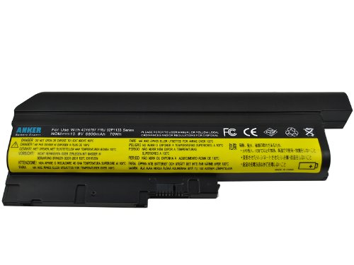 Anker New Laptop Battery for ThinkPad SL500 SL400 SL300 T60 T60P T61 T61P T500 [ONLY for Laptops of 14.1 & 15.0 standard screens and 15.4