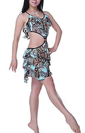 Belly Dance One-piece Costume Set, Professional Dance Costume