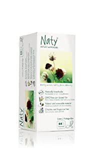 Naty by Nature Womencare Bio Panty Liners Normal - 2 x Packs of 32 (64 Panty Liners)