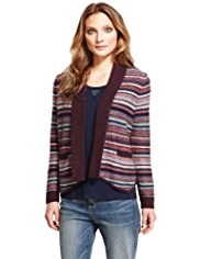 Indigo Collection Fair Isle Military Cardigan with Angora
