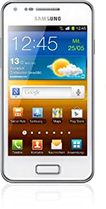 Samsung Galaxy S Advance I9070 Smartphone (10,2 cm (4 Zoll) AMOLED-Touchscreen, 5 Megapixel Kamera, Android 2.3, NFC) ceramic-weiß