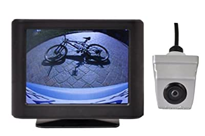 "AmeriCam K21S Pearl Silver 3.5"" LCD Monitor Backup Camera System"