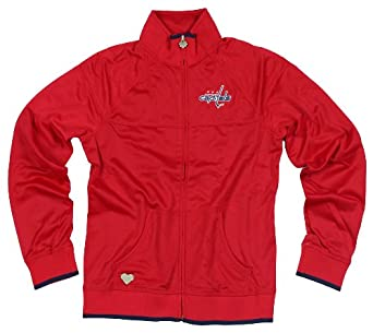 Washington Capitals NHL Womens Quilted Track Jacket, Red (Small)
