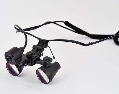 3X Magnification 420Mm Working Distance Hf300 Ultra-Light Half Frame Binocular Dental Loupes Surgical Loupes With Sz-1 Headlight