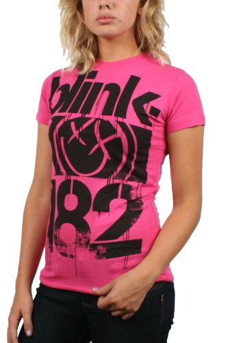 Blink 182 - 3 Bars Juniors / Da donna S/S T-Shirt in Rosa, Size: Small, Color: ...