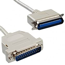 techBerri LPT Printer Cable / Wire 1.5 Meters for Dot Matrix and Old Inkjets Printers