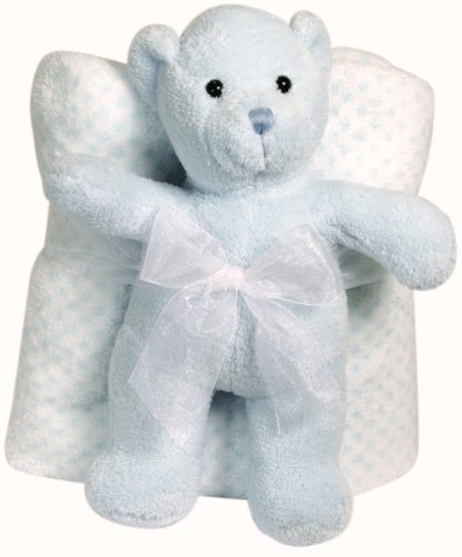 Blue Bear Blanket front-479951