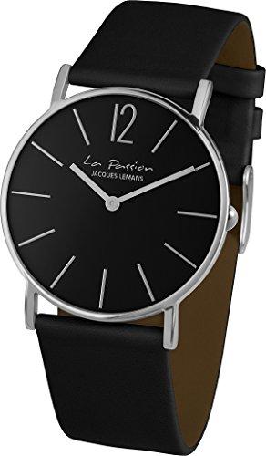 Jacques Lemans La Passion-Reloj de pulsera analógico unisex de cuarzo piel LP de 012p-122a