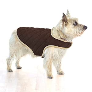 Company of Animals Dog Gone Smart Quilted Jacket, 20-inch, Brown
