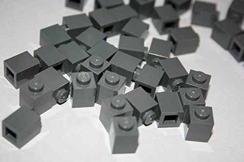 Lego Building Accessories 1 X 1 Dark Bluish Gray Brick, Bulk - 100 Pieces Per Package (Lego Pieces Package compare prices)