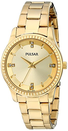 Pulsar Three-Hand Stainless Steel - Gold-Tone Women's watch #PH8102