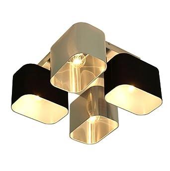 wero design deckenlampe deckenleuchte leuchte benito 001 metall mix silber schwarz. Black Bedroom Furniture Sets. Home Design Ideas