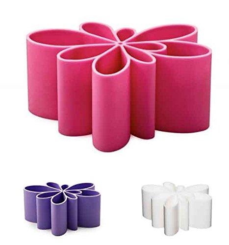 Kontur Vase, Purple, H: 6 x L: 14 x D: 11 cm