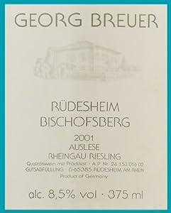 2001 Rudesheim Bischofsberg Rheingau Riesling 375 mL