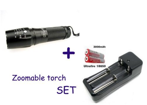 Kk-Light 1800 Lumens Zoomable Cree Xm-L T6 Led 26650 18650 3X Aaa Zoom Flashlight Torch Lamp