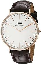 Comprar Daniel Wellington 0111DW - Reloj analógico, para hombre, color blanco y marrón