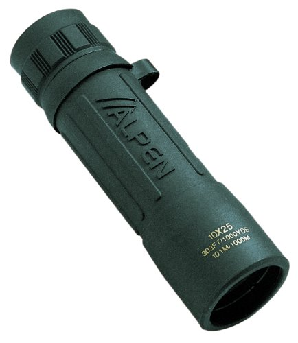 Alpen Green Rubber Covered Monocular (10X25)