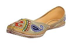 Glus Womens Tilledar Punjabi Jutti 7 UK