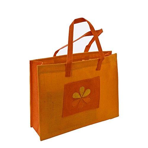 Grehom Shoulder Bag - Yellow Flower; Jute Bag; Made Of Eco-friendly Jute