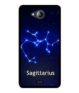 Fuson 2D Printed Sunsign Sagittarius Designer back case cover for Micromax Canvas Play Q355 - D4466