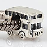 Everbling London Bus Authentic 925 Sterling Silver Charm Fits Pandora Chamilia Biagi Troll Beads Europen Style Bracelets