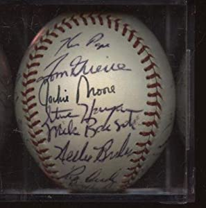 1976 Texas Rangers Team Signed Baseball 25 Signatures JSA LOA - Autographed Baseballs by Sports+Memorabilia
