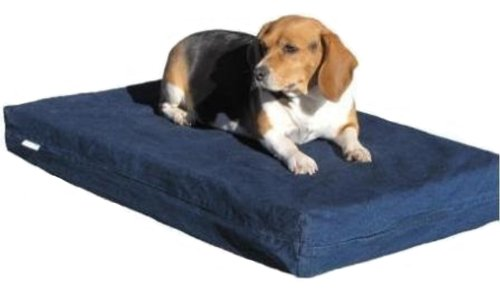 Orthopedic-Waterproof-Dog-Bed-with-100-Memory-Foam-Pad-for-Small-Medium-Extra-Large-to-Giant-size-pet-Denim-in-Navy-Blue-color-with-size-at-35X20X4