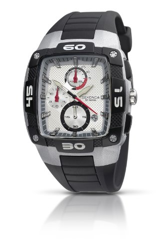 Sekonda Men's Chronograph Black Pu/Plastic Strap Watch 3058.27