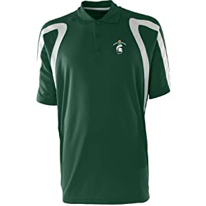 Antigua Mens Point Polo W  Rose Bowl Michigan State Spartans Logo by Antigua