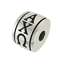 Alpha Chi Omega Barrel Sorority Bead Charm Fits Most Pandora Style Bracelets Including Pandora Chamilia Biagi Zable Troll and More. Licensed High Quality Bead in Stock for Fast Shipping
