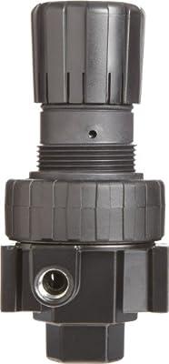 "Parker 06R313AC Regulator, Relieving Type, 2-125 psi Pressure Range, No Gauge, 75 scfm, 1/2"" NPT"