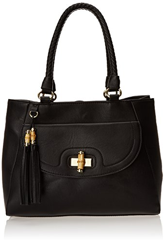 olivia + joy Delilah Double Top Handle Bag,Black,One Size