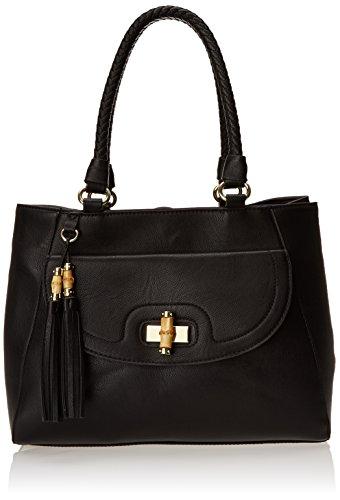 olivia + joy Delilah Double Top Handle Bag,Black,One Size