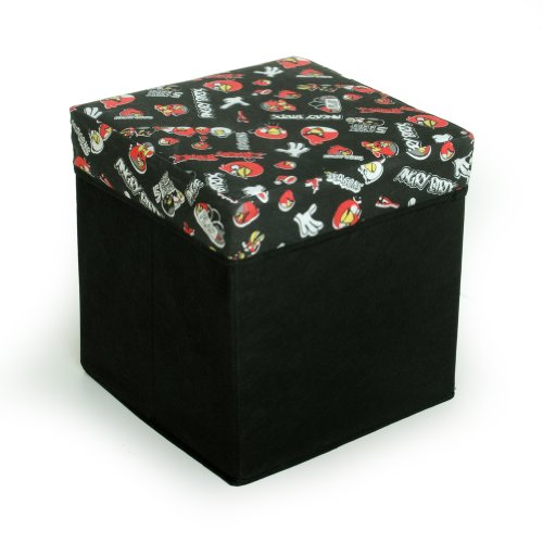[Angry Birds - Black] Square Foldable Storage Ottoman / Storage Boxes / Storage Seat