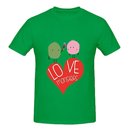 Love Monsters Men O Neck Short Sleeve Tee Green (Power Rangers Compression compare prices)