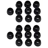 Newstylee 10 Pairs of Small Black Color Silicone Replacement Ear Buds Tips for Audio-technica Skullcandy Monster Sony Ultimate Ears Sharp Sennheiser Plantronics TDK Phillips Panasonic Denon Griffin JVC (Black)