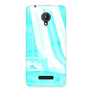 Stylish Ride Cyan White Back Case Cover for Micromax Canvas Spark Q380