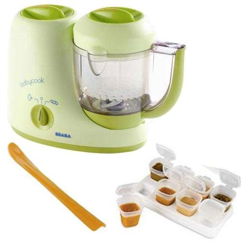 Beaba B2066KITAP1 BabyCook 4 in 1 Feed Prep blender with Baby Cubes