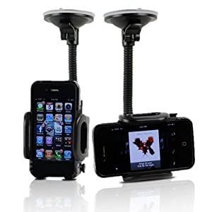 Apple iPhone 4 4G 4S (Att Verizon Sprint) Car Windshield Dash Mount Cradle Holder Kit by Fly