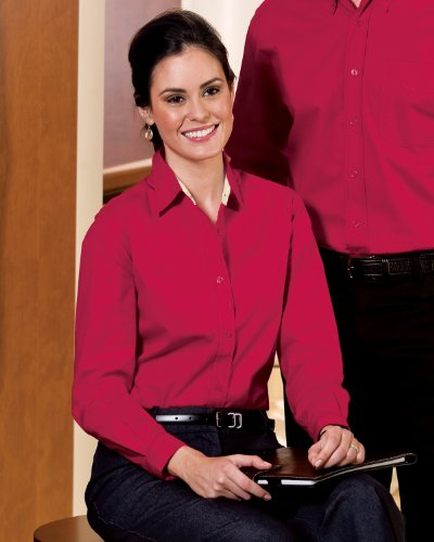 5ec4a84d Port Authority Women's Wrinkle Resistance Shirt. L608 Review and ...