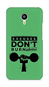 Amez Excuses don't burn Calories Back Cover For Meizum 2 Note