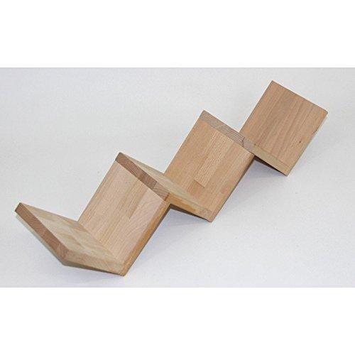 zickzack regal buche natur treppenregal cd regal aus massivholz. Black Bedroom Furniture Sets. Home Design Ideas