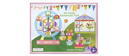C.R. Gibson Jill McDonald Kids Amusement Park 3D Puzzle