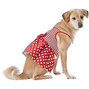 Petco pup crew red dot stripe smocked dog for Does petco sell fish