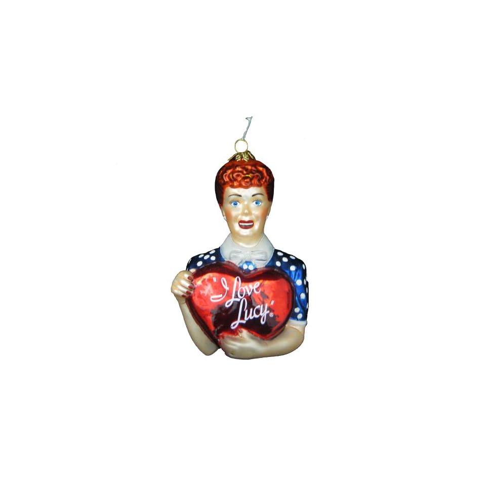 Kurt Adler Polonaise I Love Lucy Lucy with Heart Glass Ornament