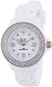 ICE-Watch - Montre femme - Quartz Analogique - Ice-Star - White Silver - Small - Cadran Blanc - Bracelet Silicone Blanc - ST.WS.S.S.09