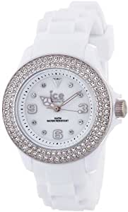 ICE-Watch - Montre femme - Quartz Analogique - Ice-Star - White Silver - Small - Cadran Blanc - Bracelet Silicone Blanc - ST.WS.S.S.09