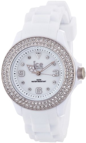 Ice-Watch Stone - White Silver Sili Small Women'S Watch #St.Ws.S.S.09