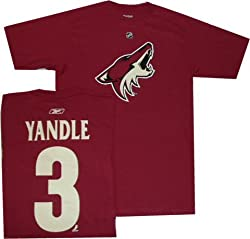 Phoenix Coyotes Keith Yandle Reebok Name and Number T Shirt